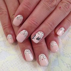 wedding nails #i do