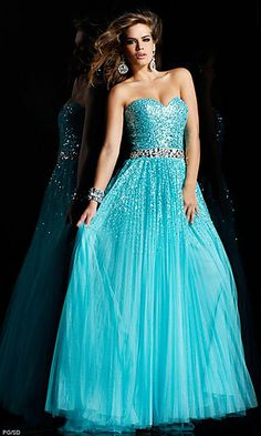 Long Strapless Sequin Prom Dress by Sherri Hill 2545 at SimplyDresses.com