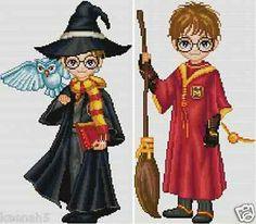 2 Set Harry Potter Cross Stitch Patterns