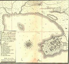 Imgur: APORTES PARA LA HISTORIA. PLANO DE LA OBRA DE TORRE REVELLO, SOBRE LA ENSENADA DE MONTEVIDEO 1753