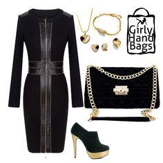 Velvet Shoulder Bag www.girlyhandbags.co.uk