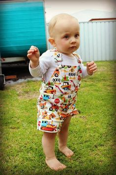 Today's fan photo of the day comes to us from Australia! Bethany recently celebrated her sons construction themed birthday party and outfitted her darling son in our construction print shortall! Thanks again Bethany for sharing! Seems like everyone is really getting a kick out of these photos so let's keep the submissions coming in!