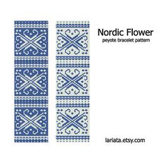 Knitting - Nordic Flower Pattern