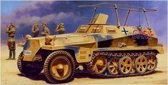 Sd.Kfz. 250-3 'Greif' veicolo di comando di Erwin Rommel. Andrzej Deredos. Italeri