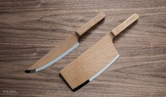 Maple knife set by The Federal. Exploration of unique materials and visual combinations in an industry stale with repetitive designs.