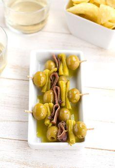 Gildas. El pintxo por excelencia del País Vasco {recipe} ---- Makes me think of San Sebastian!!! *sigh*