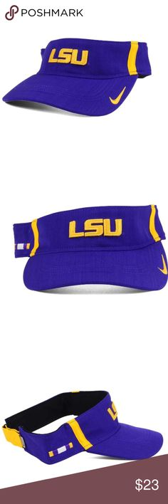 hot sales 380f3 89718 LSU Tigers Nike Dri Fit Visor Hat NEW LSU Tigers Nike Dri Fit Visor Hat NEW