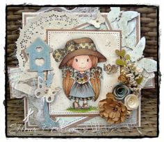 Guest Designer Fleur Pearson .......you can see more on her blog HERE. She used Little Birdie Ellie