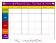 blank weekly meal plan sheet diet meal plans kids meal plan 21 day fix