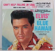 Vintage 45 Record Elvis Presley 1960s Music by TagSaleFinds, $20.00