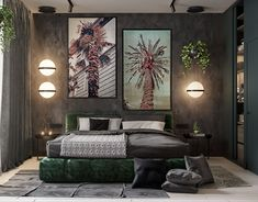 Modern home interior design inspiration, showing ways in which you can incorporate the revitalising effects of indoor plants into your decor schemes. Modern Home Interior Design, Interior Design Studio, Interior Design Inspiration, Tree Stump Side Table, House Layout Plans, Black Side Table, Palette, Green Bedding, Lounge