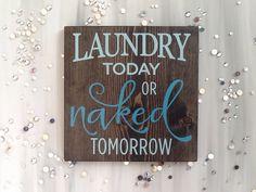 53 Ideas Wall Closet Ideas Diy Laundry Rooms For 2019 Laundry Room Bathroom, Laundry Room Signs, Farmhouse Laundry Room, Bathroom Wall Art, Laundry Rooms, Bath Room, Bathroom Signs, Farmhouse Decor, Mud Rooms