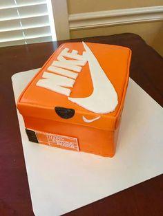 Nike shoe box cake