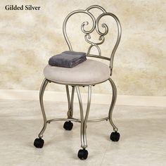 Add wheels to vanity chair?