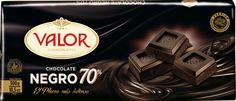 70% de Cacao. Chocolate Negro de verdad. Valor.
