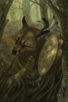 Fox Medicine...By Artist Unknown...