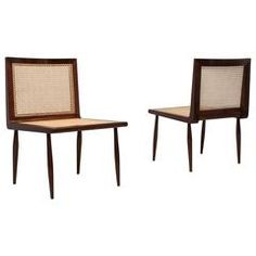 Joaquim Tenreiro, Low Bedroom Chairs, circa 1950