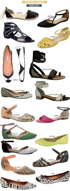Sapatilhas e sandálias rasteiras para o verão 2014