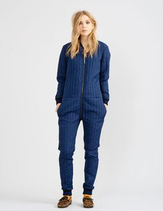 Sports quilt Cigne Navy Jumpsuit from Mads Norgaard