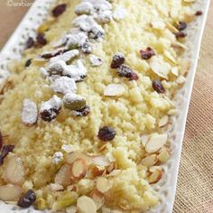 Easy dessert - Sweet Couscous | Amira's Pantry