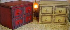 Primitive Country Fake Apothecary Chest To Hide The Kitchen Toaster