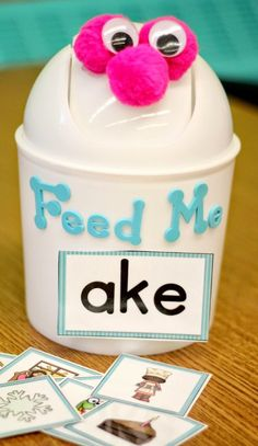 Decorate can for any skill, abc,,, word families...A Differentiated Kindergarten: Back To School Panic Time and Something That Could Help Your Own BTS Planning.