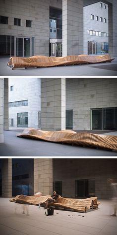 uiliuili Bench by Piotr Zuraw