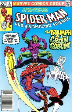 Spider-Man and His Amazing Fiends #1, December 1981, cover by John Romita Jr and Al Milgrom