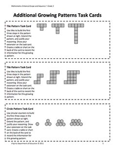 Here's a nice lesson plan and activities on growing patterns. Includes task … Here's a nice lesson plan and activities on growing patterns. Maths 3e, Maths Algebra, Primary Maths, Algebra Activities, Math Resources, Teaching Math, Numeracy, Grade 2 Patterning Activities, Math Games