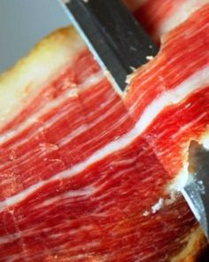 Photo about Picture of the court of a typical Jamon Iberico ham from Spain. Image of iberico, steak, diet - 12690203 Spanish Dishes, Spanish Food, Spanish Cuisine, Tapas, Meat Delivery, Sliced Ham, How To Cook Ham, Prosciutto, Great Recipes