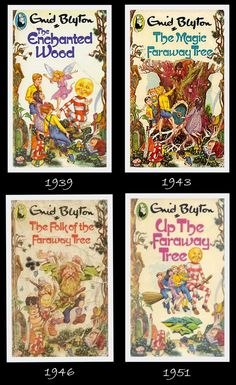The Faraway Tree stories - Enid Blyton. I read them as a kid and remember liking them, despite my mothers distaste for them. I dont remember much about them now, though. I Love Books, Good Books, My Books, Enid Blyton Books, The Magic Faraway Tree, Tree Story, Vintage Children's Books, Children's Literature, My Childhood Memories