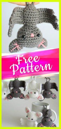 Amigurumi-Crochet-Bat #crochetbat #amigurumifree