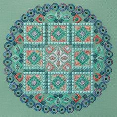 Lizart: needlepoint. The design is  Linda by Orna Willis