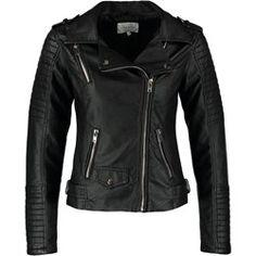 c0c089ffcc3dc Kurtka damska Sparkz - Zalando Black Faux Leather Jacket, Faux Leather  Jackets, Black Noir