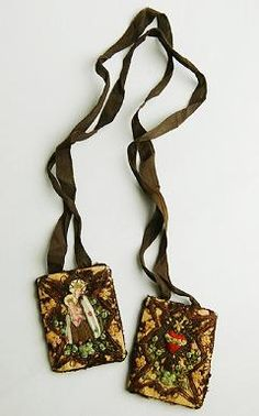 I love scapulars. This one is a beauty.