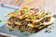 Mofongo - prato típico de Porto Rico com bananas e carne moída - muito bom!