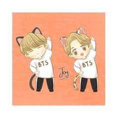 Bts Chibi, Disney Characters, Fictional Characters, Fan Art, Joy, Cartoon, Disney Princess, Anime, Cartoons