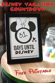 Disney Vacation Countdown Printable