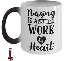 Nursing is a work of heart coffee mug Coffee Heart, Coffee Mugs, Funny Mugs, Funny Gifts, Gifts For Dad, Gifts In A Mug, Diy Mugs, Mugs For Men, Mom Birthday
