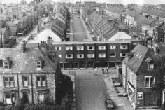 An aerial picture of housing in Benwell, Newcastle, September 1972 Train Pictures, Old Pictures, Old Photos, Newcastle, North East England, Building Structure, We The Best, West End, Alter