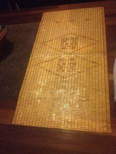 Old wooden picnic rug vintage
