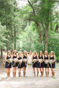 Rustic bridesmaid dress ideas. ---> http://www.weddingchicks.com/2014/05/22/riley-grey-wedding-website/