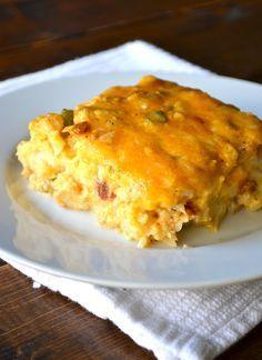 Loaded Cauliflower & Chicken Casserole from Rachel Schultz / #lowcarb shared on https://facebook.com/lowcarbzen