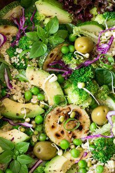 quinoa superfood salad close up