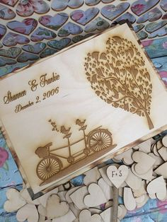 Bicycle wedding guest book , rustic tree guest book , wedding tree book , guest book alternative , guest book by FallenStarCoutureInc on Etsy https://www.etsy.com/listing/227715812/bicycle-wedding-guest-book-rustic-tree