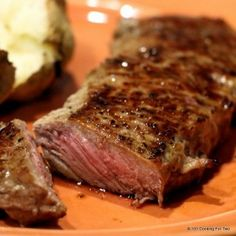 Let's cook our strip steaks like the steak-houses. Pan sear to caramelize and then finish in the oven to your taste. Just great.