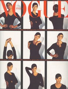 Linda Evangelista by Steven Meisel Vogue Italia November 1989