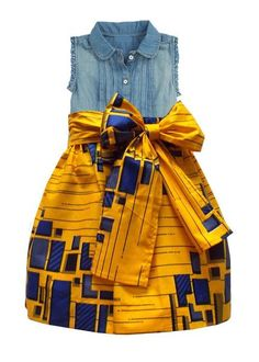 Abina African Print Skirt for Little Girls (Yellow/Blue) African Print Skirts - Abina African Print Full Skirt Girls – D'IYANU African Fashion Designers, African Print Fashion, Africa Fashion, African Fashion Dresses, Fashion Skirts, Fashion Outfits, African Dresses For Kids, African Babies, African Children