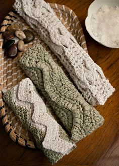 Pearl Spa Cloths (Crochet) pattern by Cindy Abernethy; part of the Neighborhood Knits & Crochets Too: 2014 Rose City Yarn Crawl Pattern Collection eBook available on Ravelry. Photography by Joanna Schilling of Ember Owl Photography.