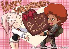 "Epic fantasy mobile game adaptation of  ""Rage of Bahamut: Genesis"" Valentine's Story (2015)"